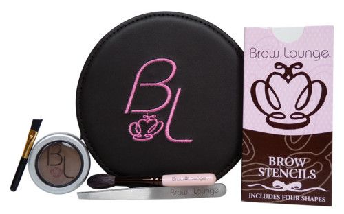 Brow Lounge Beauty Kit includes a 4 pack brow stencil, brow brush, precision stainless steel tweezers, detail brush and your favorite shade of Eyebrow Powder.